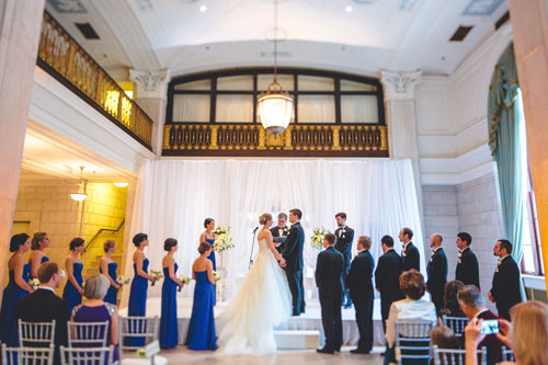 winter white wedding at Marriott Grand in st. louis | Events Luxe weddings