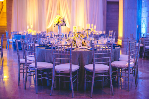 winter white wedding table setting in st. louis | Events Luxe weddings