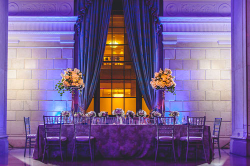 Marriot Grand Cobalt blue and winter white wedding | Events Luxe Weddings
