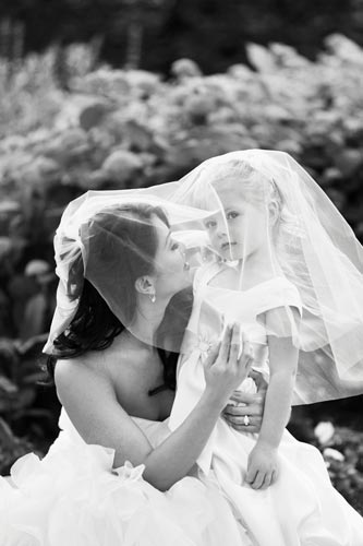 Bride & Flower Girl at Old Warson Country Club in St. Louis | Weddings by Events Luxe