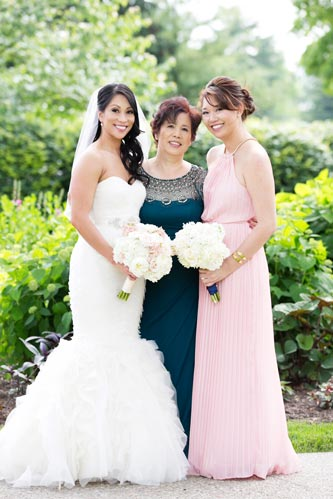 Bride, Mom, Bridesmaid at Old Warson Country Club | St. Louis Weddings by Events Luxe