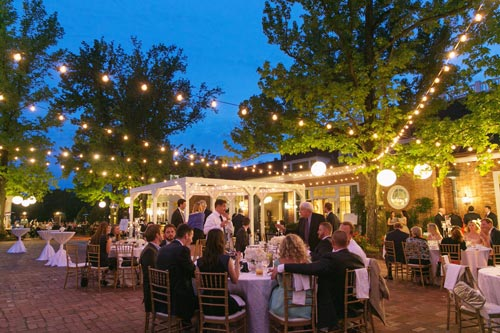 Wedding Reception Outside at Old Warson Country Club | St. Louis Weddings by Events Luxe