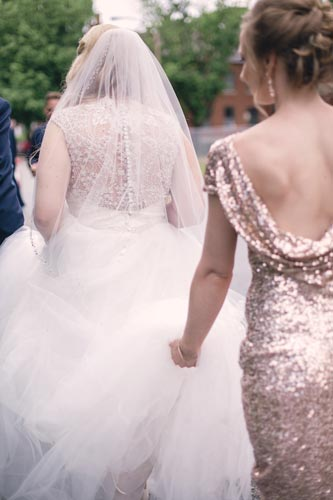 Walking to Busch Stadium for Wedding Photos | St. Louis Weddings by Events Luxe