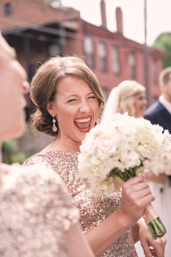 Bridesmaid with Belli Fiori wedding bouquet | St. Louis Weddings by Events Luxe