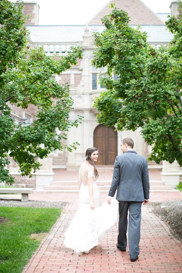 Bride & Groom at Graham Chapel, Washington University | Weddings by Events Luxe