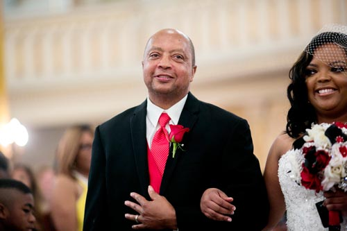Father of the Bride Red Tie | Events Luxe Wedding