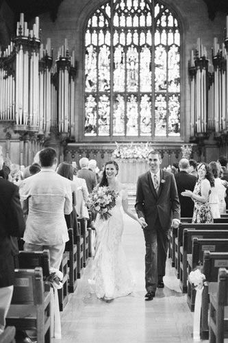 Bride & Groom at Graham Chapel, Washington University   Weddings by Events Luxe