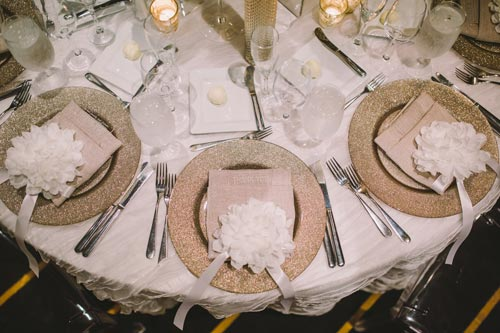 Table settings at the westin hotel st. louis | Weddings by Events Luxe