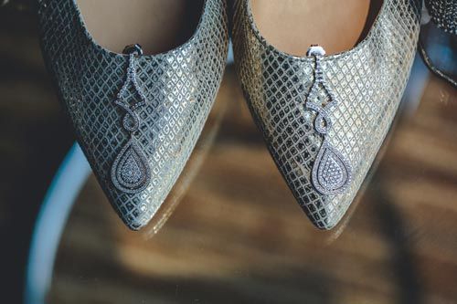 Grey Wedding Shoes | Weddings by Events Luxe