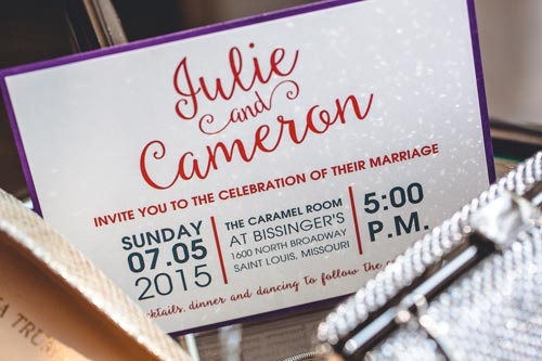 M Haley Designs invitations | Weddings by Events Luxe