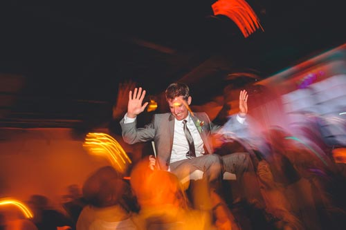 Groom chair dance at Caramel Room | Weddings by Events Luxe