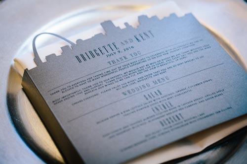 Silver Wedding Menu | Events Luxe Weddings