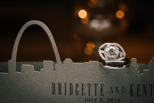 Wedding ring on Arch Invitation | Events Luxe Weddings