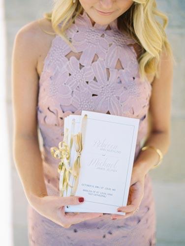 Wedding Programs | Events Luxe Weddings
