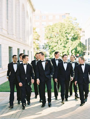 Groomsmen at Old Cathedral St. Louis | Events Luxe Weddings