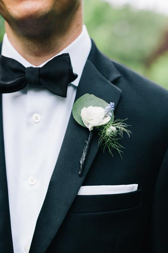 White Boutonniere | Events Luxe Weddings