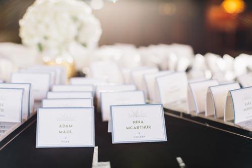 Black Tie Wedding Table Settings | Events Luxe Weddings