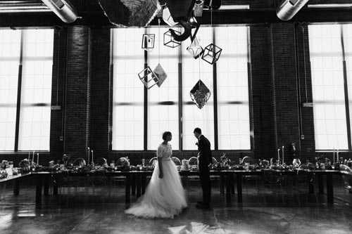 Bride & Groom at Joule | Events LUxe Weddings
