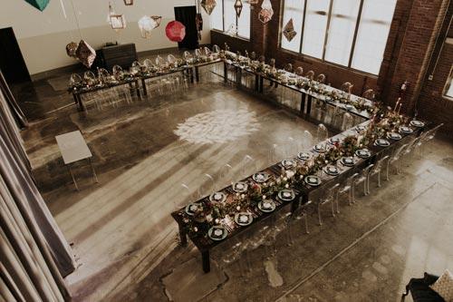 Geometric wedding tables | Events Luxe Weddings