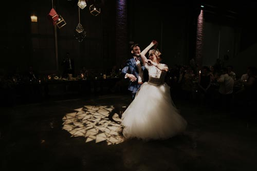 Bride & Groom dancing at Joule | Events Luxe Weddings