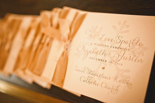 Winter wedding programs | Events Luxe Weddings