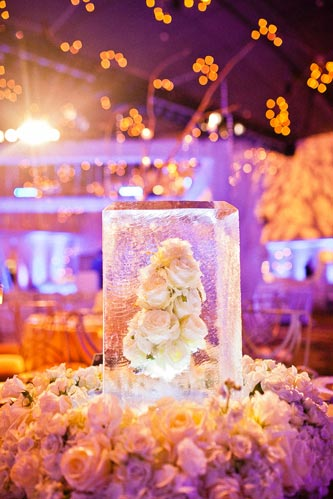 Winter Table settings at khorassan ballroom chase park plaza | Events Luxe Wedding
