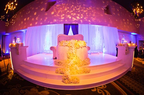 Winter wedding stage for bride & groom | Events Luxe Weddings