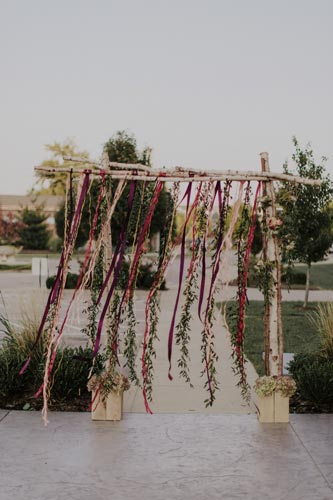 Handmade bridal alter | Events Luxe Weddings