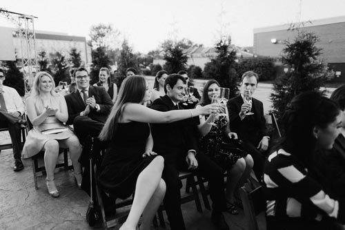 Wedding toast at Joule | Events Luxe Weddings