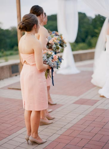 Bridesmaids in Peach | Events Luxe Weddings