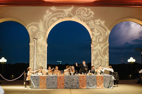 Bridal party table at World's Fair Pavilion \ Events Luxe Weddings