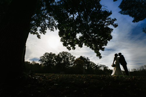 Bride & Groom at Forest Park Sunset | Events Luxe Wedding