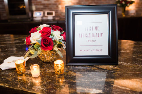 Red wedding signage | Events Luxe Wedding