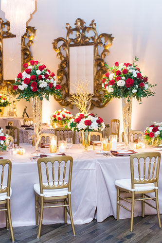 Rouge Winter Wedding Table Settings | Events Luxe Wedding