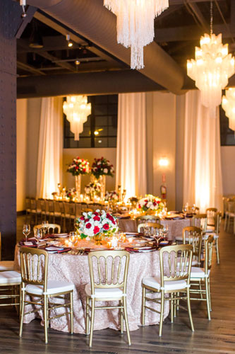 Rouge Winter Wedding Table Settings   Events Luxe Wedding