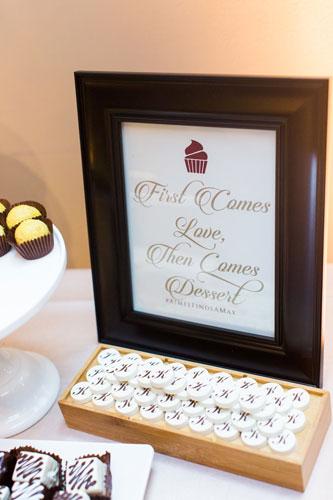 Dessert table Caramel Room   Events Luxe Wedding