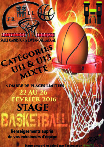 Affiche stage Basket