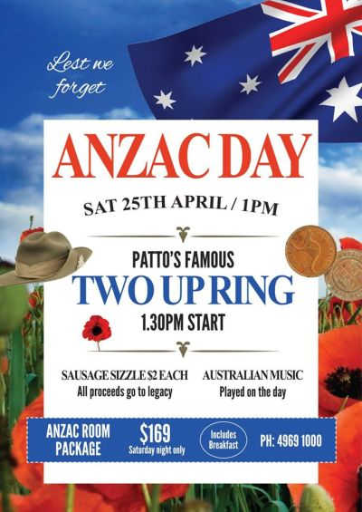 Anzac Day Celebrations @ AM Bar | Mackay ...