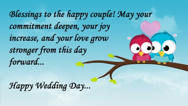 lovely image with wedding wishes