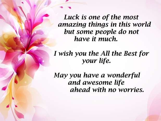 All the Best Wishes Messages Quotes Images 2017 – Best Wishes in Life