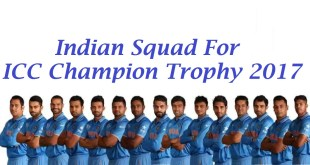 indian team for icc champion trophy 2017