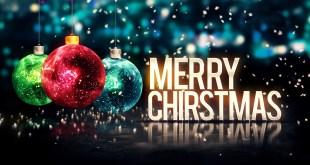 Merry Christmas Balls Glitter HD