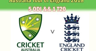 Australia tour of England 2018 Schedule