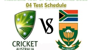 Australia tour of South Africa 2018 Schedule