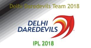Delhi Daredevils Team 2018