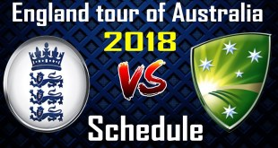 england tour to australia 2018 odi schedule