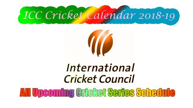 icc cricket calendar
