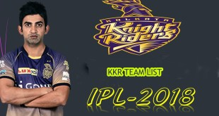 kkr team list 2018