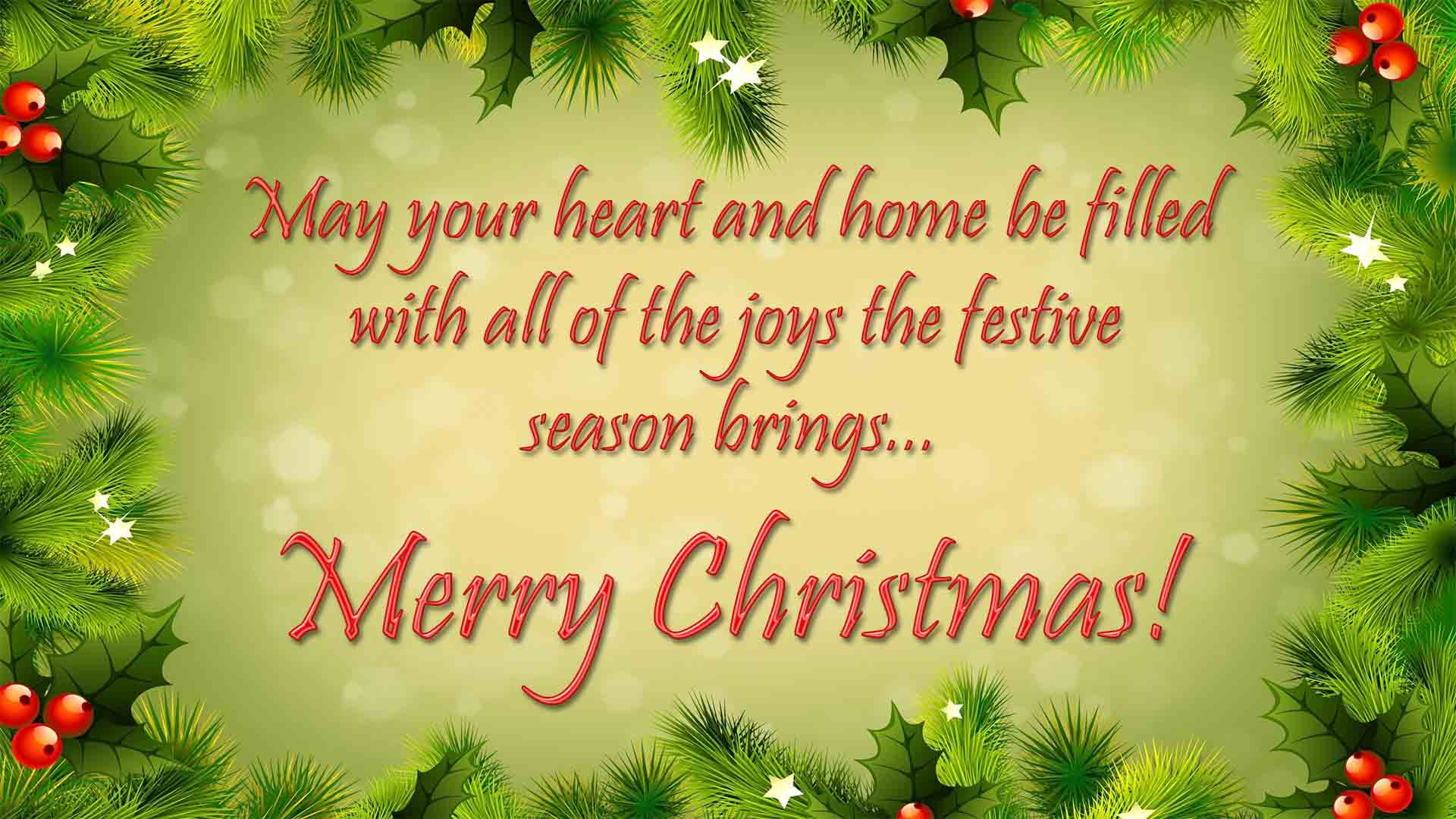 Merry Christmas Greetings & Messages HD Images Free Download