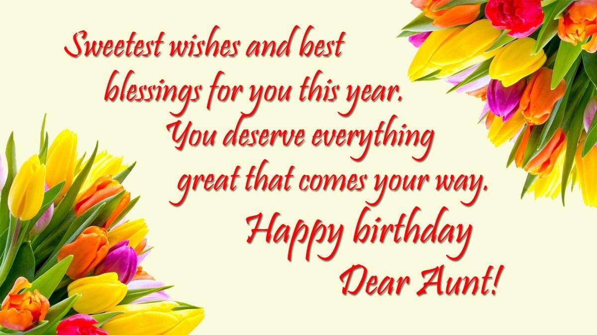 happy birthday wishes for aunt  happy birthday auntie